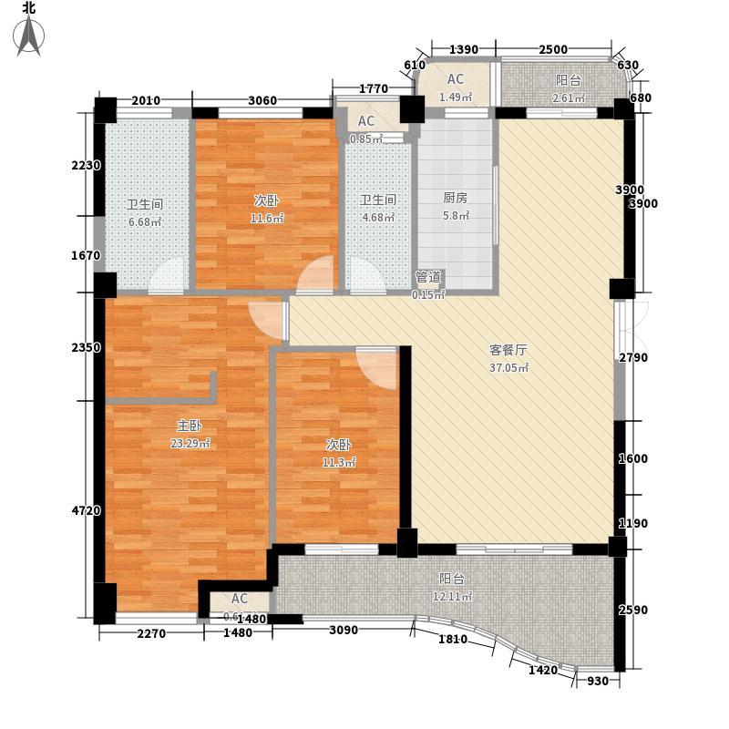 尚层建筑135.62㎡尚层建筑户型图3室2厅2卫1厨户型10室