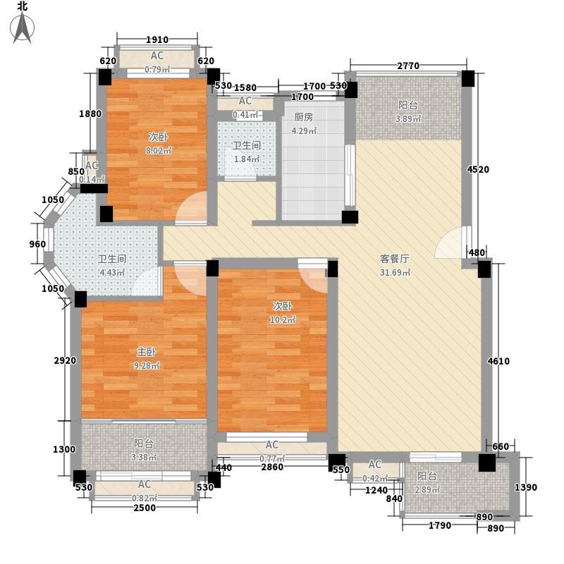 中大城123.00㎡5#、6#洋墅D5户型3室2厅2卫1厨