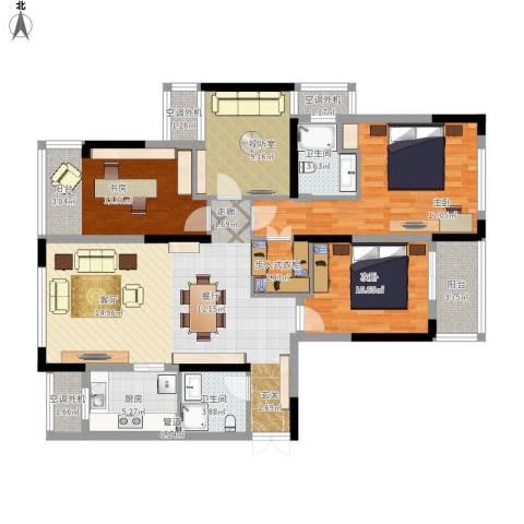 东港嘉苑三区3室1厅2卫1厨151.00㎡户型图
