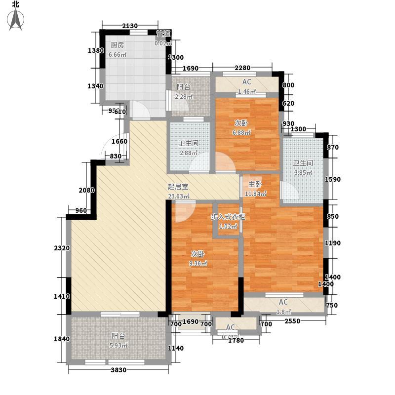 当代安普顿小镇113.12㎡B1户型3室2厅