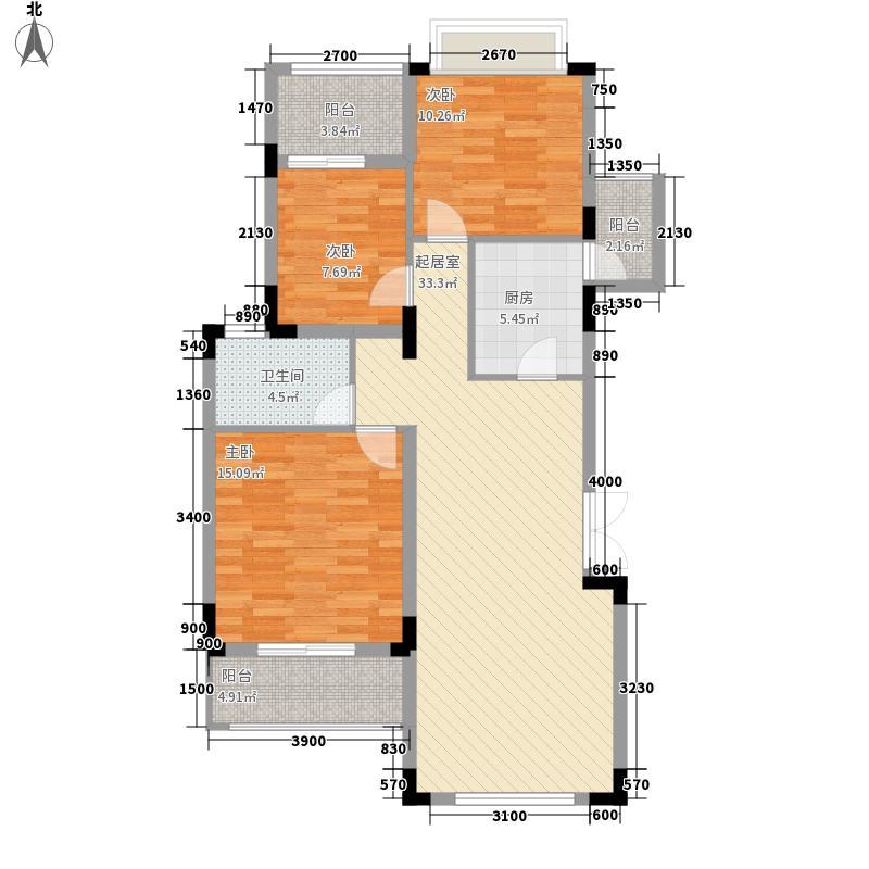 当代安普顿小镇101.47㎡Ts-5型户型3室2厅