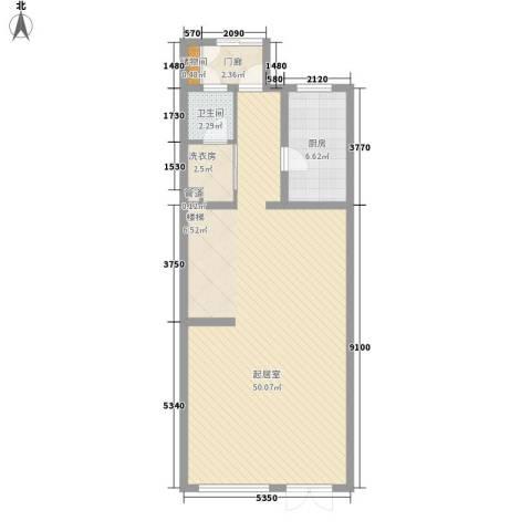 首创玲珑墅1卫1厨190.00㎡户型图