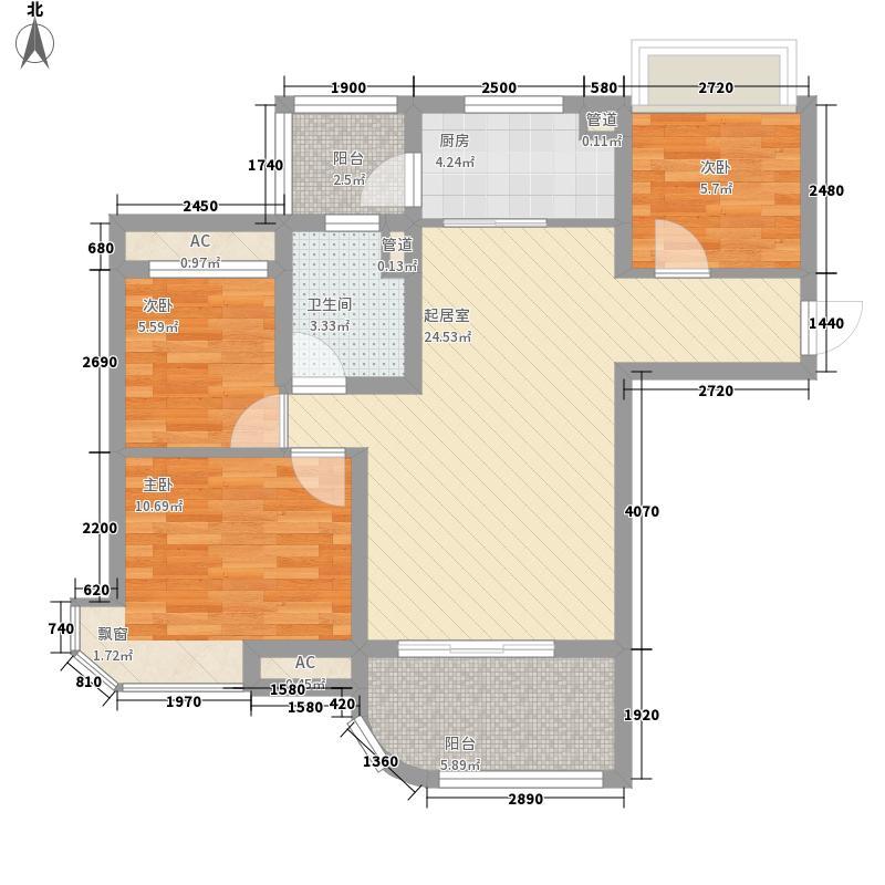 无锡碧桂园94.10㎡户型3室2厅