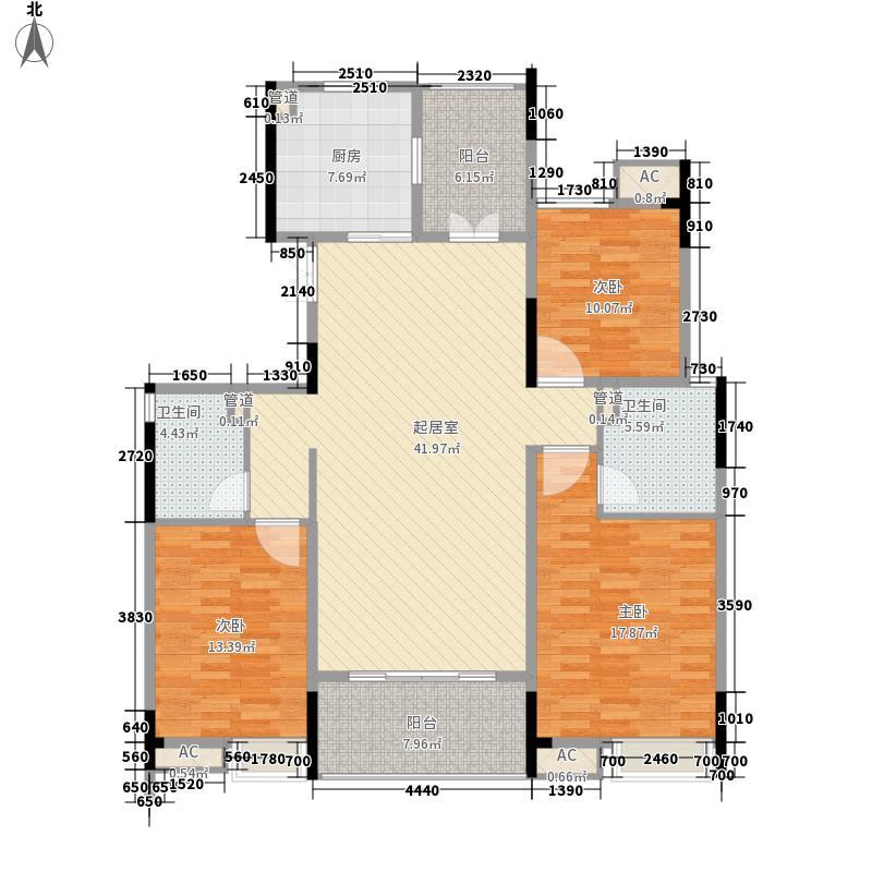 星雨华府131.00㎡D户型3室2厅