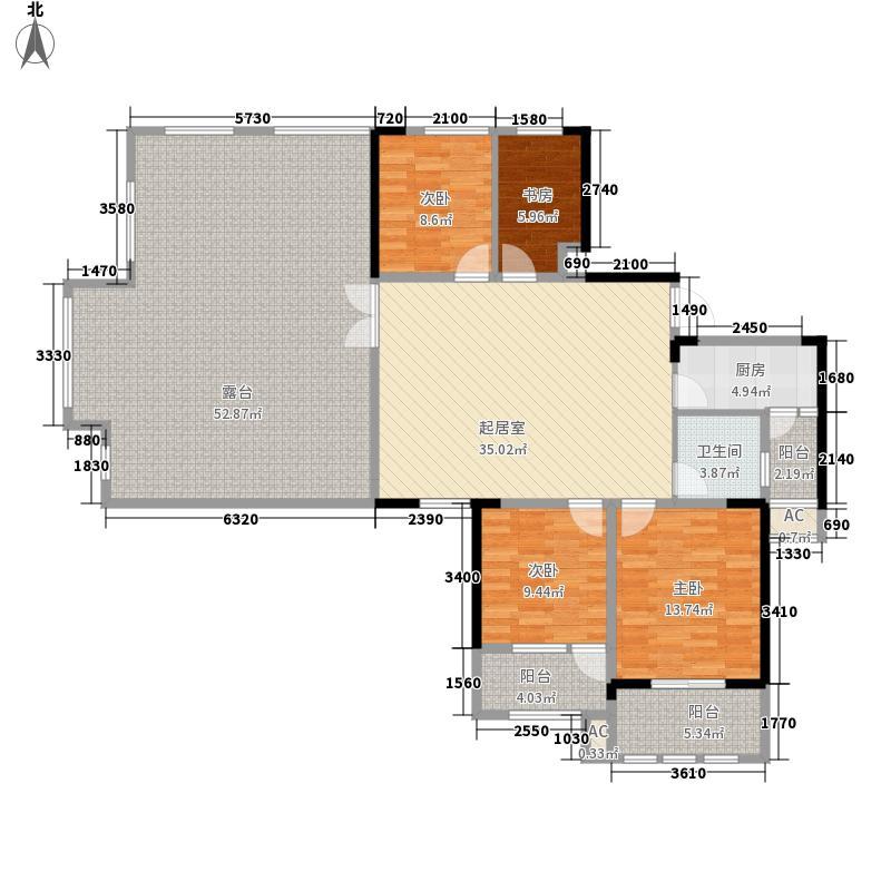 当代安普顿小镇127.89㎡四期21、22号楼H-E户型4室2厅