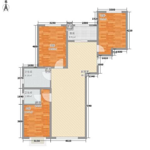 西昌小区3室0厅2卫1厨132.00㎡户型图