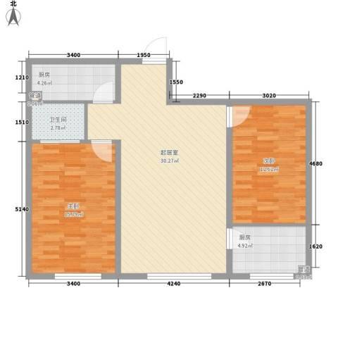 西昌小区2室0厅1卫2厨99.00㎡户型图