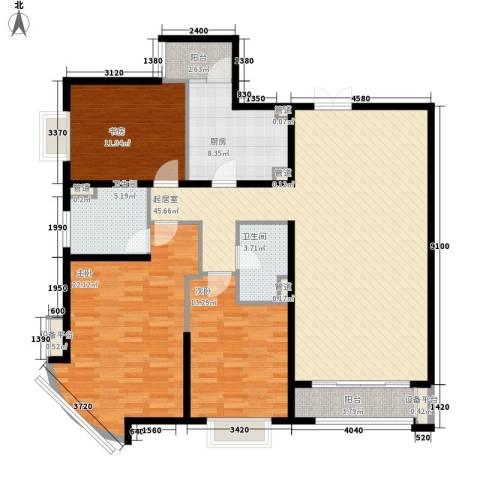 新华联丽景3室0厅2卫1厨153.00㎡户型图