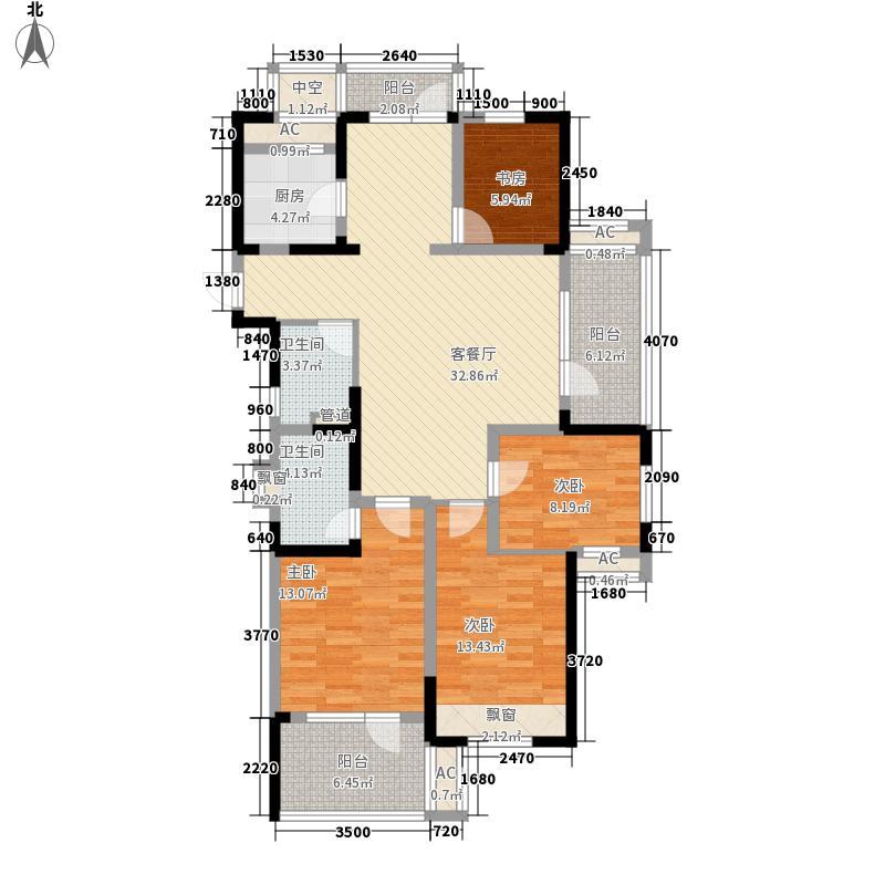 金都夏宫154.00㎡北山大院C户型4室2厅