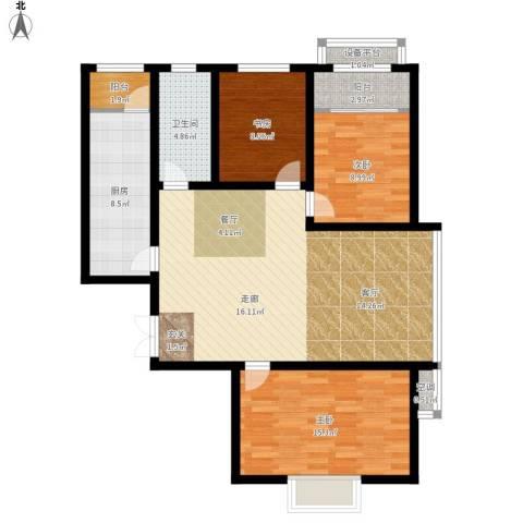 宇泰泰悦3室1厅1卫1厨126.00㎡户型图