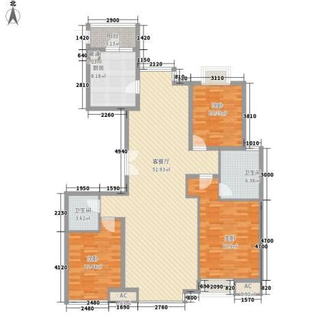 先春园泉春里3室1厅2卫1厨163.00㎡户型图