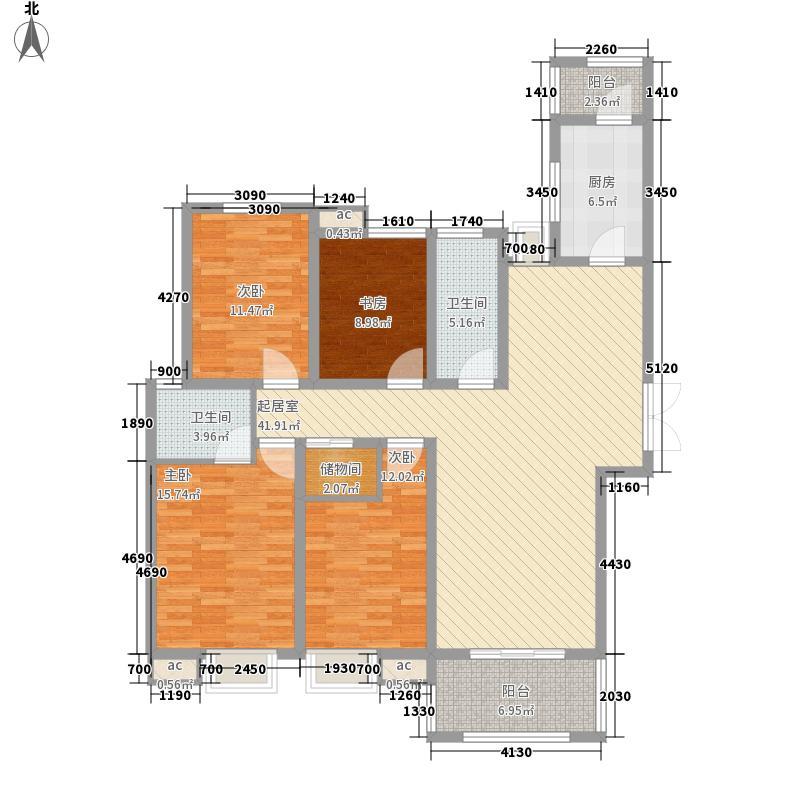 未来华庭172.16㎡C-01户型4室4厅