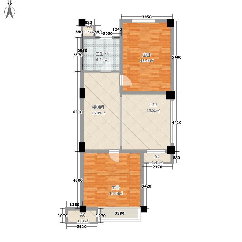 宏图上水庭院110.00㎡复式一楼户型2室1厅