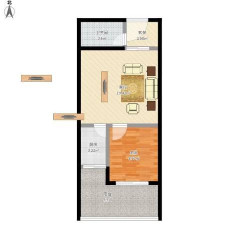 未来石1室1厅1卫1厨69.00㎡户型图