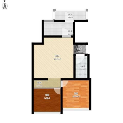 康庄住宅小区2室1厅1卫2厨90.00㎡户型图