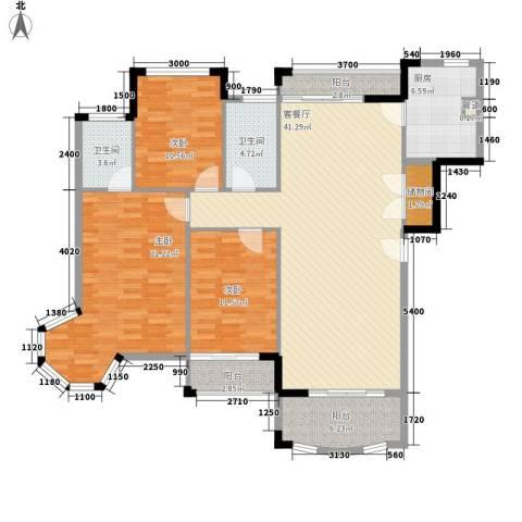 圆梦08庄园3室1厅2卫1厨133.00㎡户型图