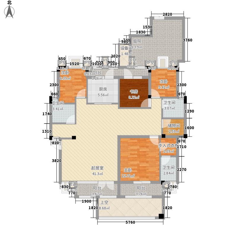 百步亭金桥汇186.32㎡Ⅱ洋房户型4室2厅