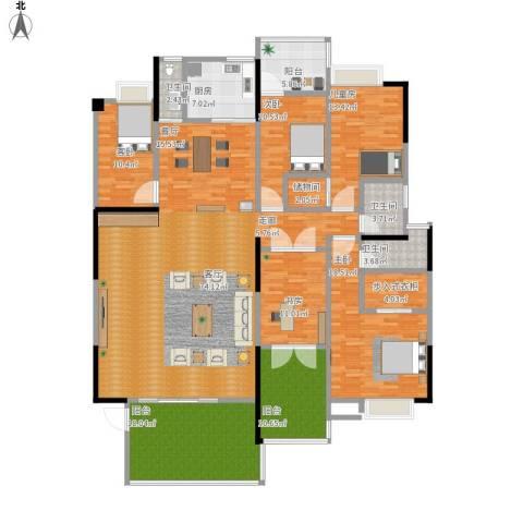 岭南花园5室1厅3卫1厨230.00㎡户型图