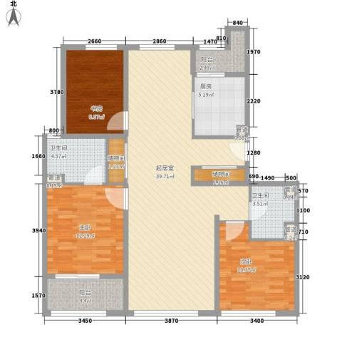 阳光花城别墅3室0厅2卫1厨133.00㎡户型图