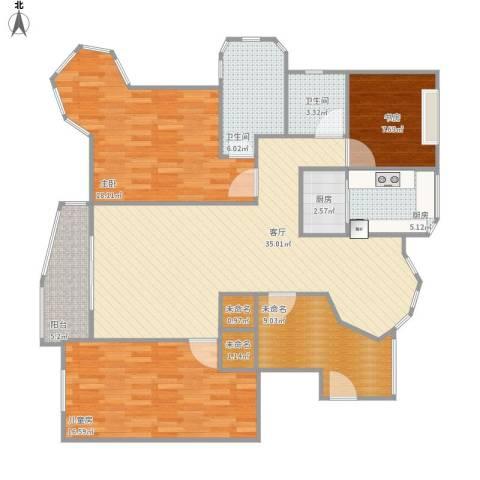 绿地东上海3室1厅2卫2厨150.00㎡户型图