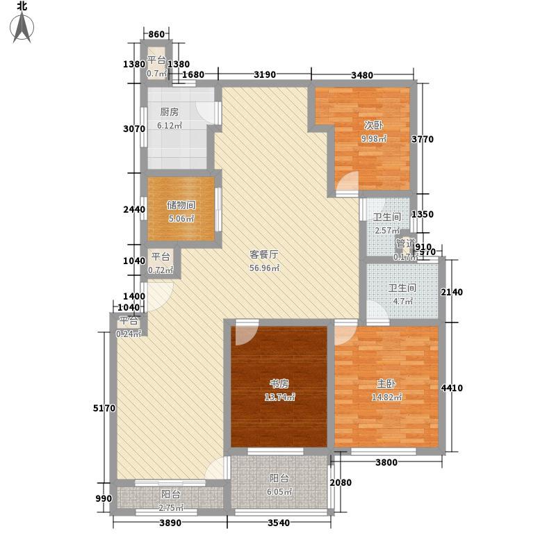 中鹰黑森林165.82㎡19、21、23#01、02户型4室2厅2卫