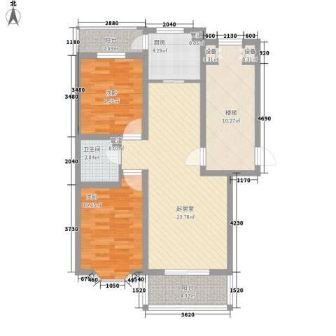 东润豪景2室0厅1卫1厨98.00㎡户型图