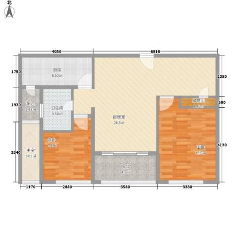 阳光花城别墅2室0厅1卫1厨96.00㎡户型图