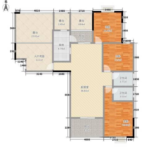 运河名都3室0厅2卫1厨136.15㎡户型图