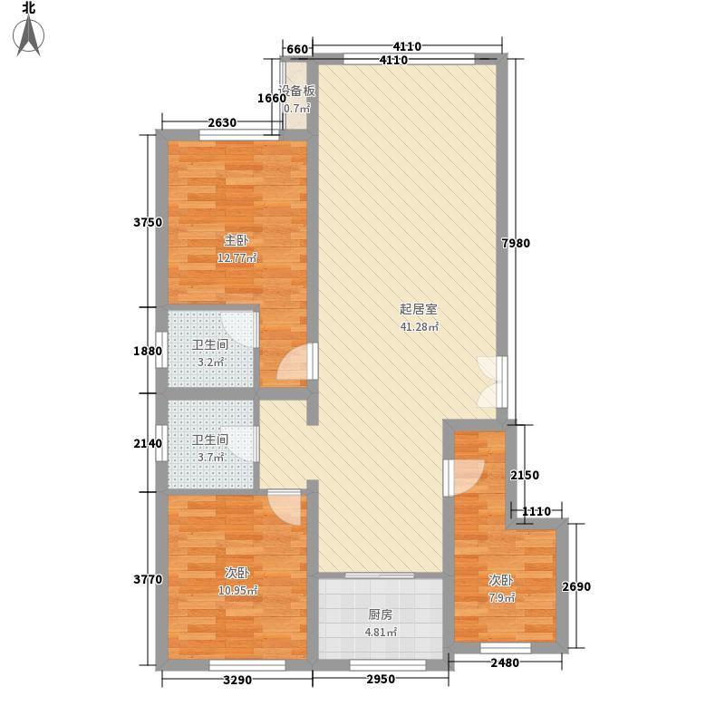 兰庭书苑二期121.00㎡兰庭书苑二期户型图3室2厅2卫1厨121平3室2厅2卫1厨户型3室2厅2卫1厨