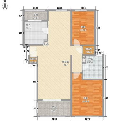 阳光花城别墅2室0厅1卫1厨132.00㎡户型图