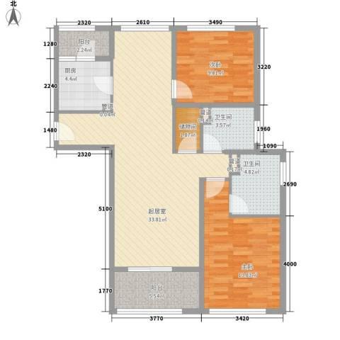 阳光花城别墅2室0厅2卫1厨114.00㎡户型图