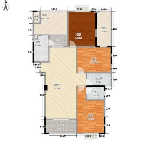 运河名都3室1厅2卫1厨141.00㎡户型图