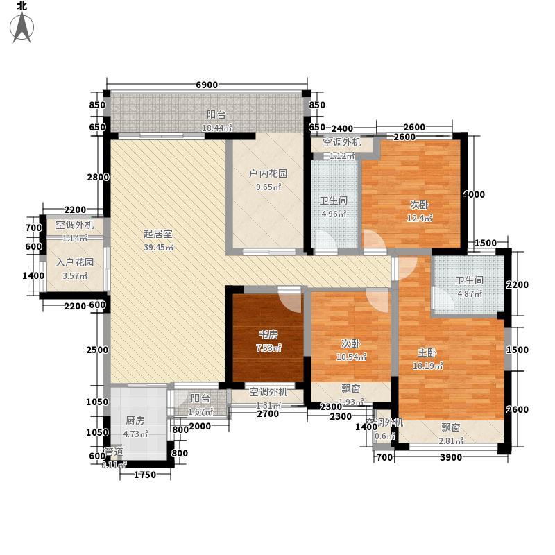 融科东南海148.00㎡D1户型4室2厅