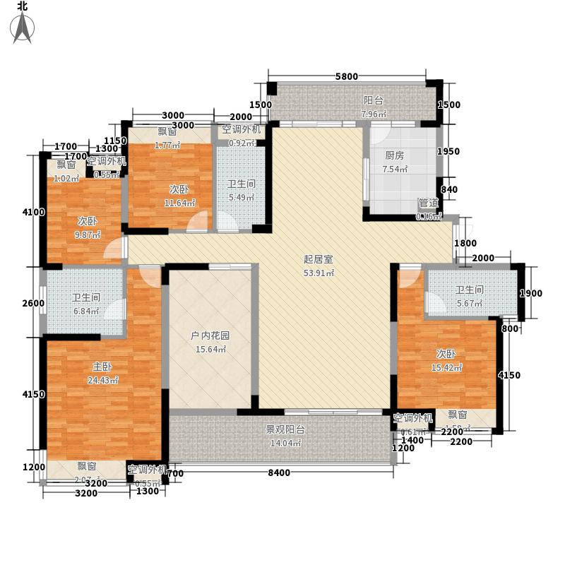 融科东南海215.00㎡D6户型4室2厅