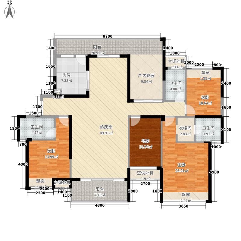 融科东南海190.00㎡D4户型4室2厅