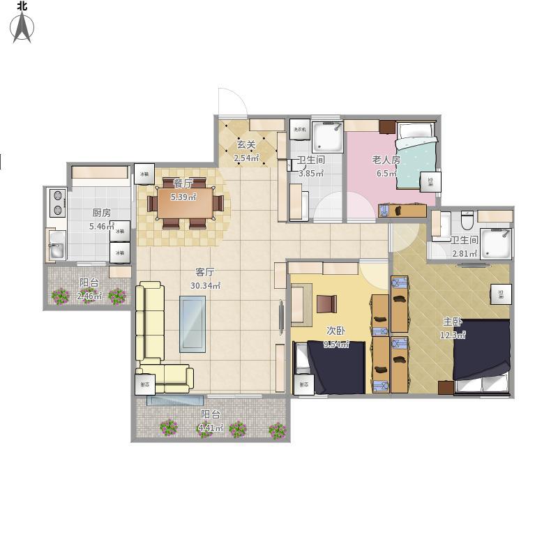 南滨6号的户型图