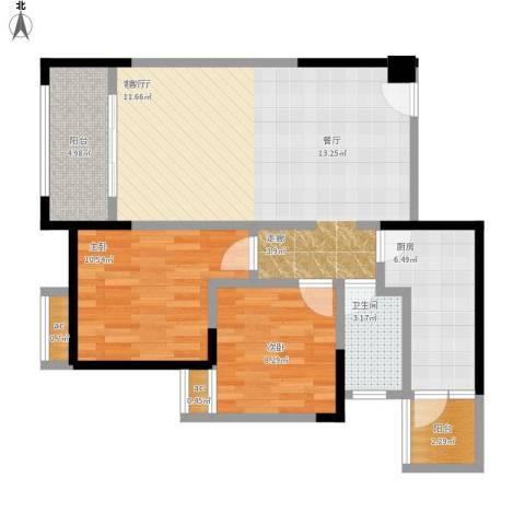 兆甲合阳新城2室1厅1卫1厨94.00㎡户型图