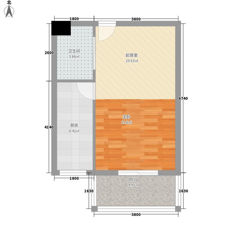 佳怡公寓70.00㎡1面积7000m户型