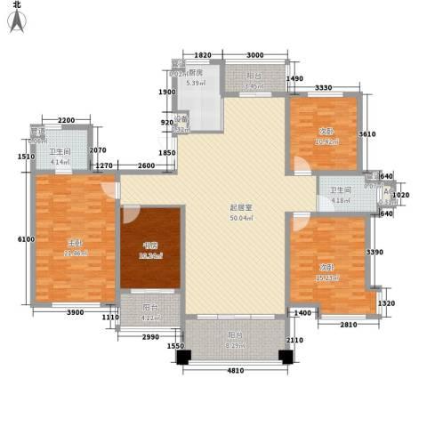 潭泽溪郡4室0厅2卫1厨182.00㎡户型图
