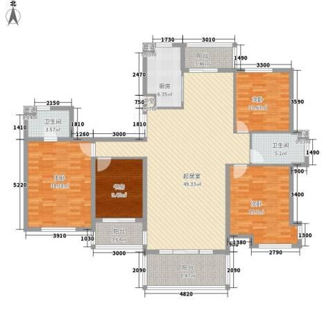 潭泽溪郡4室0厅2卫1厨191.00㎡户型图