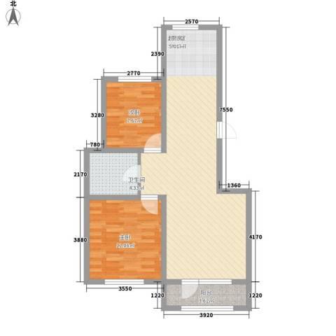 外滩九号2室0厅1卫0厨90.00㎡户型图