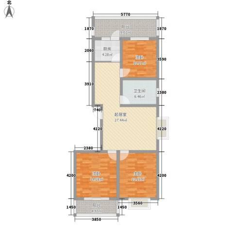 御龙苑项目3室0厅1卫1厨137.00㎡户型图