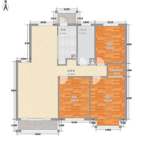 长兴湾一期3室0厅1卫1厨110.00㎡户型图