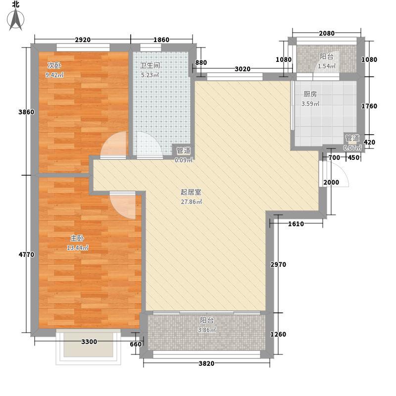 长兴湾一期89.00㎡长兴湾一期户型图一期9号楼标准层I户型2室2厅1卫1厨户型2室2厅1卫1厨
