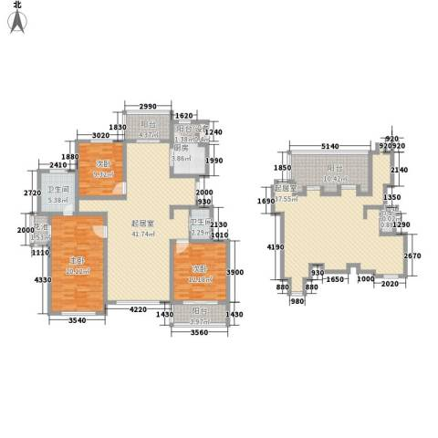 潭泽溪郡3室0厅3卫1厨209.00㎡户型图
