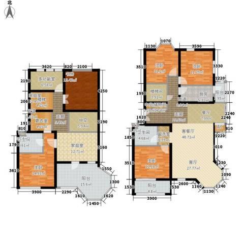 学风19115室1厅2卫1厨209.00㎡户型图