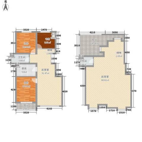 潭泽溪郡3室0厅2卫1厨174.00㎡户型图