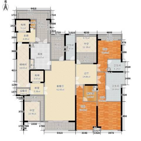 金地天玺3室1厅3卫1厨327.27㎡户型图