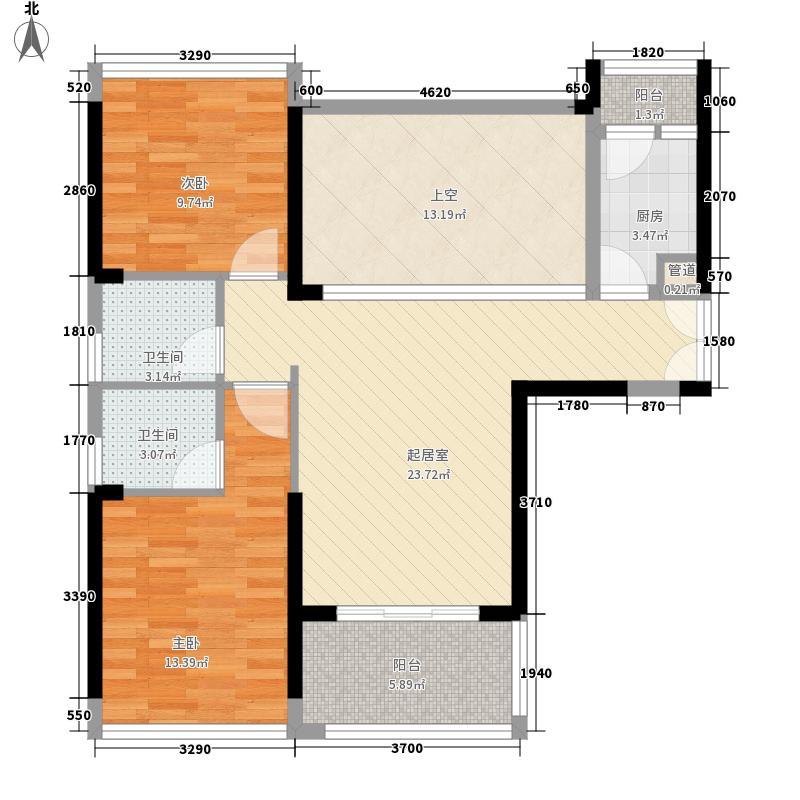 联佳大厦 2室 户型图
