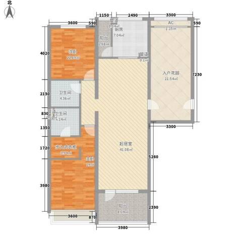 富力丹麦小镇别墅2室0厅2卫1厨133.00㎡户型图